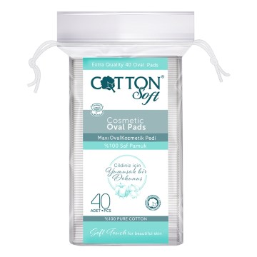 Cotton Soft - Cotton Soft Büyük Oval Ped 40 Lı