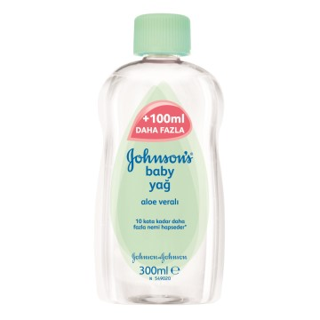 Johnsons Baby - Aloe Vera Bebek Yağı 300 ml