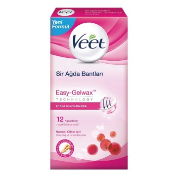 Veet - Easy Strip Sir Ağda Bant Normal12 Adet