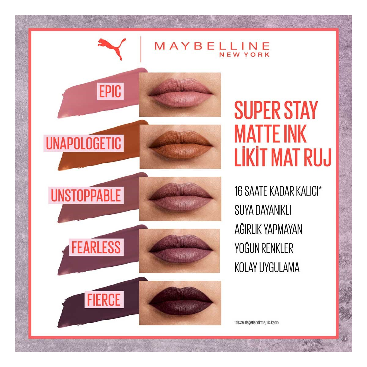 8d86242bfb9 ... Maybelline New York - PUMA X Maybelline Super Stay Matte Ink Likit Mat  Ruj - 09 ...
