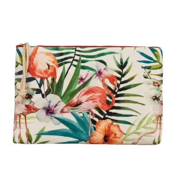Magic Saver Bag - Clutch Çanta 28x17 cm *Flamingo