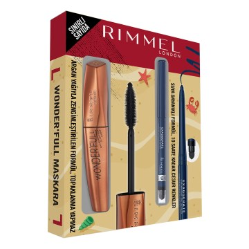 Rimmel London - Wonderfull Maskara & Exaggerate Waterproof Eyeliner Kofre Set