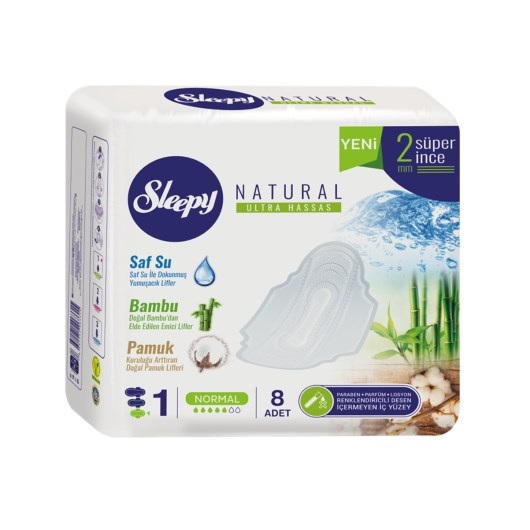 Sleepy - Sleepy Naturel Ultra Hassas Hijyenik Ped Tekli Normal8'li