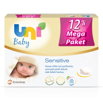 Uni - Sensitive Islak Havlu 12'li