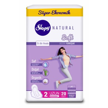Sleepy - Natural Soft İnce Uzun 22'li