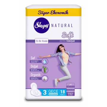 Sleepy - Natural Soft İnce Gece 20'li