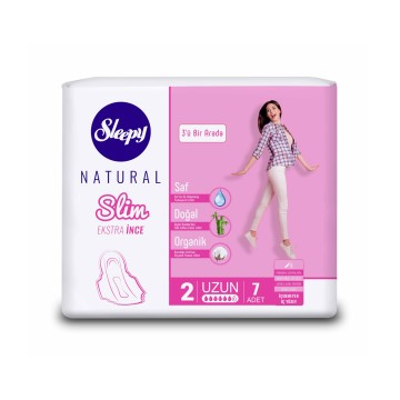 Sleepy - Hijyenik Ped Natural Slim 7'li