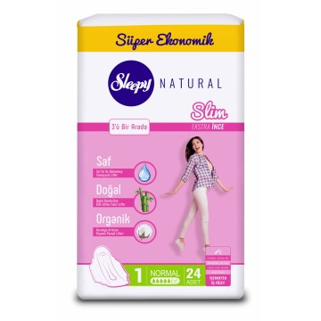Sleepy - Hijyenik Ped Natural Slim 30'lu