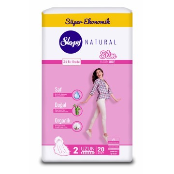 Sleepy - Hijyenik Ped Natural Slim 22'li