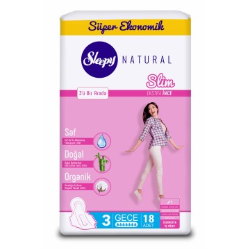 Sleepy - Hijyenik Ped Natural Slim 20'li